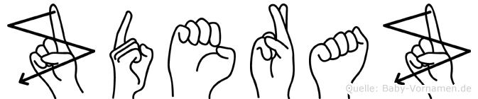 Zderaz im Fingeralphabet der Deutschen Gebärdensprache