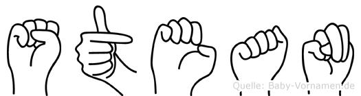 Stean in Fingersprache für Gehörlose