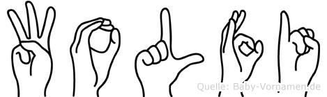 Wolfi in Fingersprache für Gehörlose