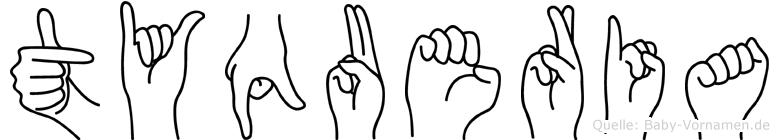 Tyqueria im Fingeralphabet der Deutschen Gebärdensprache