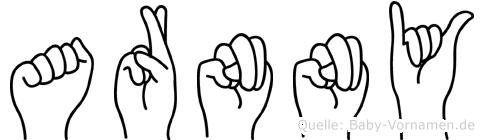 Arnny in Fingersprache für Gehörlose
