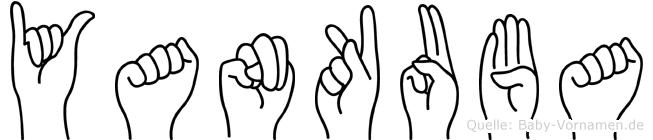 Yankuba im Fingeralphabet der Deutschen Gebärdensprache