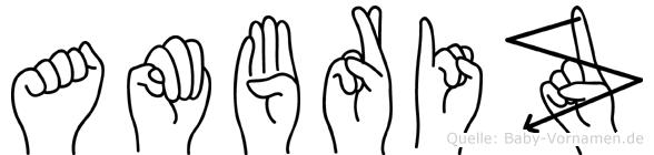 Ambriz in Fingersprache für Gehörlose