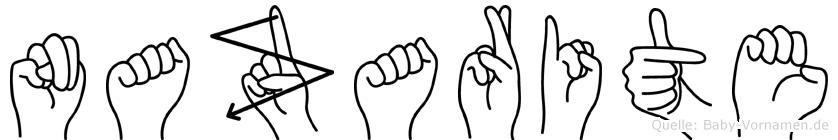 Nazarite im Fingeralphabet der Deutschen Gebärdensprache