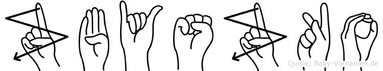Zbyszko in Fingersprache für Gehörlose