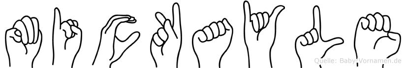 Mickayle im Fingeralphabet der Deutschen Gebärdensprache