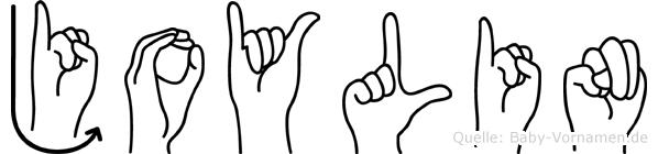 Joylin im Fingeralphabet der Deutschen Gebärdensprache