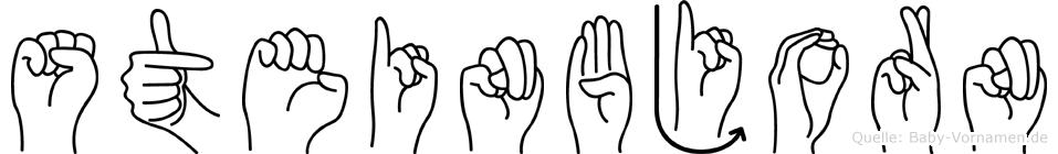 Steinbjorn im Fingeralphabet der Deutschen Gebärdensprache