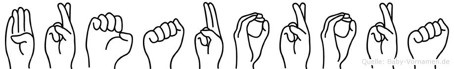 Breauorora in Fingersprache für Gehörlose