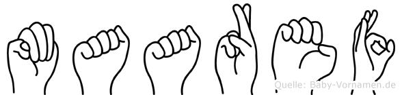 Maaref im Fingeralphabet der Deutschen Gebärdensprache