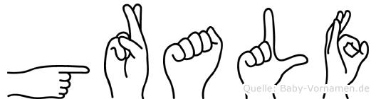 Gralf in Fingersprache für Gehörlose