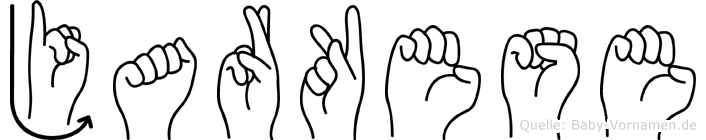 Jarkese im Fingeralphabet der Deutschen Gebärdensprache