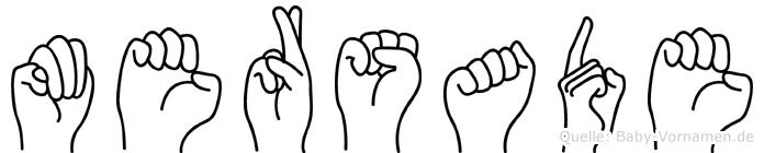 Mersade im Fingeralphabet der Deutschen Gebärdensprache