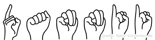 Dannii im Fingeralphabet der Deutschen Gebärdensprache