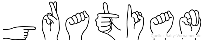Gratian in Fingersprache für Gehörlose