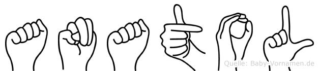 Anatol in Fingersprache für Gehörlose