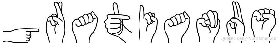 Gratianus in Fingersprache für Gehörlose