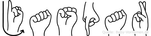 Jaspar in Fingersprache für Gehörlose