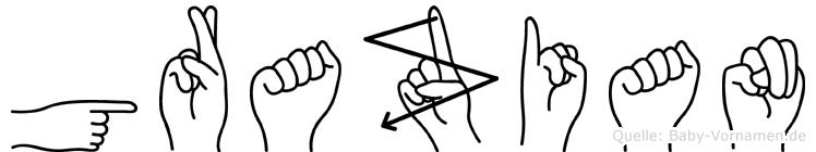 Grazian in Fingersprache für Gehörlose