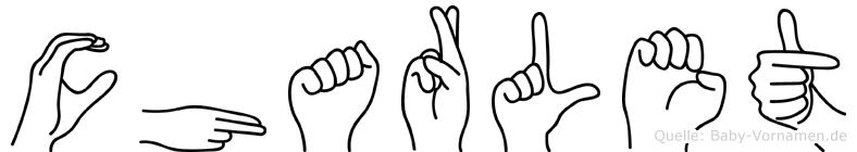 Charlet im Fingeralphabet der Deutschen Gebärdensprache