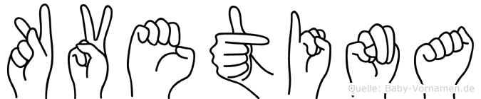 Kvetina in Fingersprache für Gehörlose