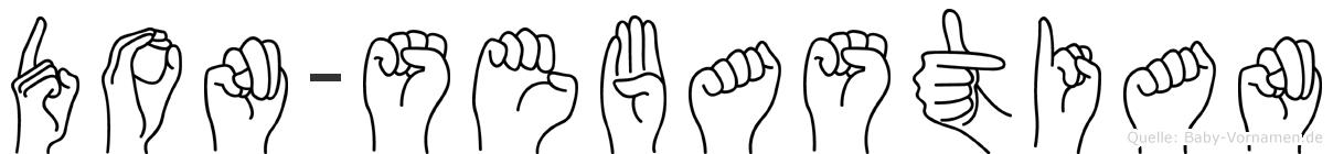 Don-Sebastian im Fingeralphabet der Deutschen Gebärdensprache
