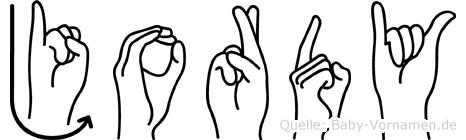 Jordy in Fingersprache für Gehörlose