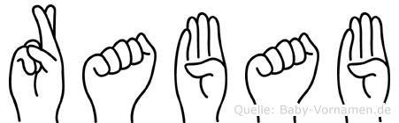 Rabab im Fingeralphabet der Deutschen Gebärdensprache