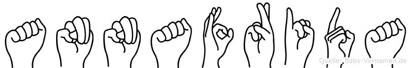 Annafrida im Fingeralphabet der Deutschen Gebärdensprache