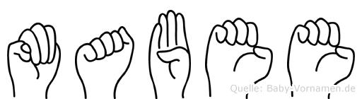 Mabee im Fingeralphabet der Deutschen Gebärdensprache