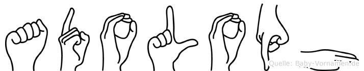 Adoloph in Fingersprache für Gehörlose