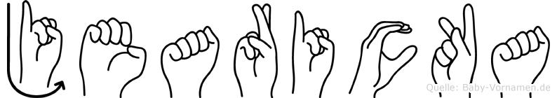 Jearicka im Fingeralphabet der Deutschen Gebärdensprache
