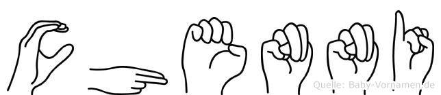 Chenni in Fingersprache für Gehörlose
