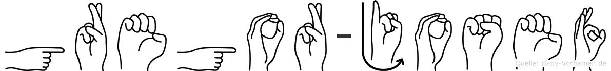 Gregor-Josef im Fingeralphabet der Deutschen Gebärdensprache