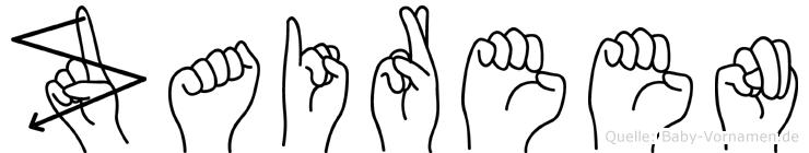 Zaireen im Fingeralphabet der Deutschen Gebärdensprache