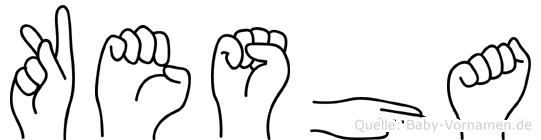 Kesha in Fingersprache für Gehörlose