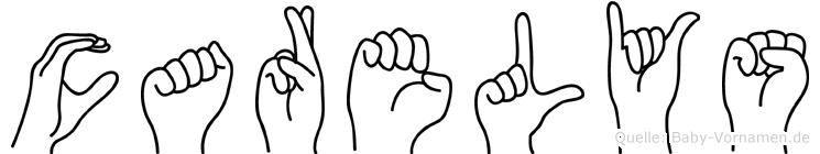 Carelys im Fingeralphabet der Deutschen Gebärdensprache