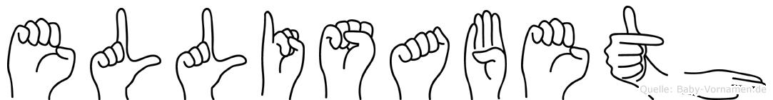 Ellisabeth im Fingeralphabet der Deutschen Gebärdensprache