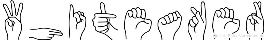 Whiteaker in Fingersprache für Gehörlose
