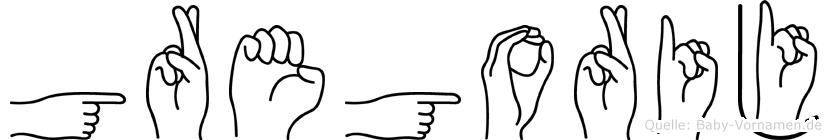 Gregorij in Fingersprache für Gehörlose