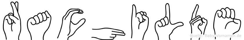 Rachilde in Fingersprache für Gehörlose