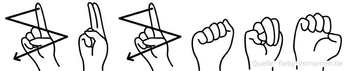 Zuzane in Fingersprache für Gehörlose