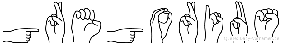 Gregorius im Fingeralphabet der Deutschen Gebärdensprache
