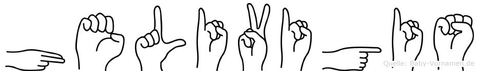 Helivigis in Fingersprache für Gehörlose