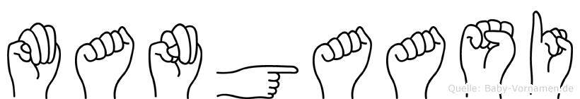 Mangaasi im Fingeralphabet der Deutschen Gebärdensprache
