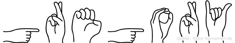 Gregory in Fingersprache für Gehörlose