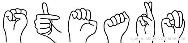 Stearn im Fingeralphabet der Deutschen Gebärdensprache