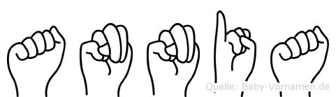 Annia in Fingersprache für Gehörlose