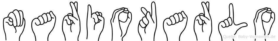 Mariokarlo in Fingersprache für Gehörlose
