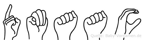 Dmaac im Fingeralphabet der Deutschen Gebärdensprache